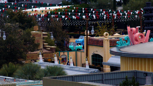 Disneyland Resort, Disneyland60, Disney California Adventure, Cars Land, Luigi's, Rollickin', Roadsters, Flying, Tires, Casa, Della, Tires, Paradise, Pier, Mickey, Fun, Wheel