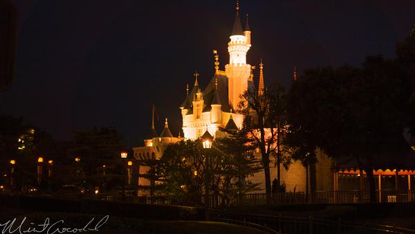 Hong, Kong, Disneyland, Fantasyland, Sleeping, Beauty, Castle, Orange