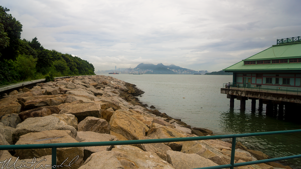 Hong, Kong, Disneyland, Esplanade, Walk, Way, Ferry, Boat, House