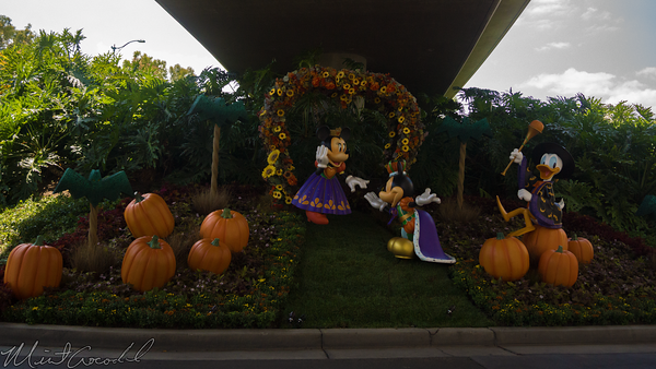 Disneyland Resort, Disneyland60, Disneyland, Disney California Adventure, Halloween, Time, Mickey, Minnie, Donald, Tram