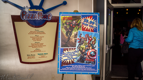 Disneyland Resort, Disneyland60, Disneyland, Tomorrowland, Pizza, Port, Marvel, Comic