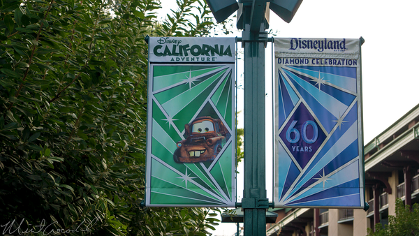 Disneyland Resort, Disneyland60, Christmas, Time, Downtown Disney, Banner, Flag, Disney California Adventure, Mater, Cars Land