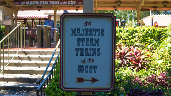 Disneyland Resort, Disneyland, Frontierland, Railroad, Depot, Steam, Train