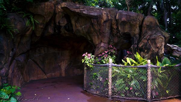 Hong, Kong, Disneyland, Adventureland, Back, Side, Water, Waterfall