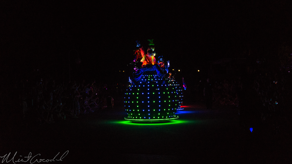 Hong, Kong, Disneyland, Paint, The, Night, Electrial, Parade