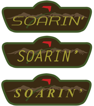 Disneyland Resort, Disneyland, Disney California Adventure, Grizzly, Peak, Airfield, Condor, Flats, Soarin', Soarin, Over, California, MintCrocodile, Design, Designed, Illustrator, Logo, Sign